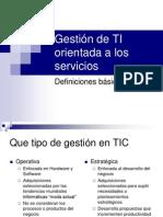 01. Gestión de TI orientada a los servicios