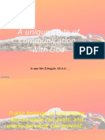 Unique Style of Communication With God