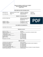 Dye Tracing MSDS ENVIRORedi Yellow Green Powder