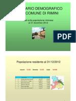 Notiziario demografico del Comune di Rimini