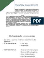 Cortes y Secciones de Dibujo Tecnico