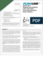 FlowLine Level Switch Sensors Switch-Tek LU10 LP10 LP15 LO10 LZ12 Manual