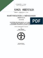Griveau_Maryrologes et ménologes orientaux