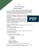 Planificación Estratégica - Lección 1