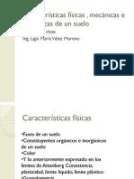 Características físicas mecánicas e hidráulicas de un suelo