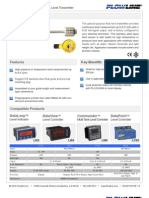 FlowLine Level Transmitter Contact FloaTek LV55 Data Sheet