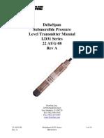 FlowLine Level Transmitter Contact DeltaSpan LD31 GP Manual