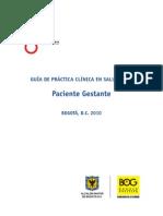 Guía de práctica clínica en salud oral - Paciente Gestante