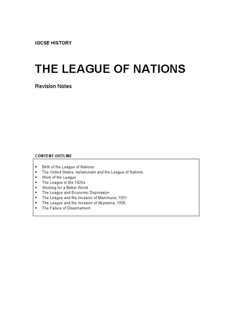 history of the leagues of nations Learn about and revise the league of nations with bbc bitesize gcse history.