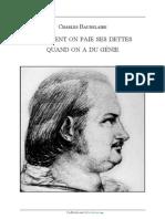 Comment on Paie Ses Dettes Quand on a Du - Baudelaire_ Charles