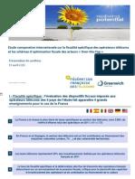 Etude comparative internationale sur la fiscalité spécifique des opérateurs télécoms