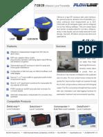 FlowLine Level Transmitter Ultrasonic EchoSonic With Cable LU23 LU27 LU28 LU29 Data Sheet