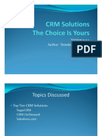 CRM Solutions - The Choice is Yours
