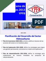 Programa de Inversiones 2013 Ypfb