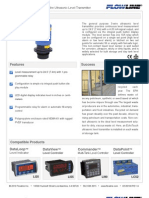 FlowLine Level Transmitter Ultrasonic EchoTouch LU30 Data Sheet