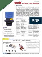 FlowLine Level Transmitter Ultrasonic EchoTouch LU20 Data Sheet