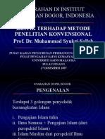 07Kritik Metode Penelitian Konvensional-IPB Bogor