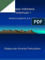 Bahasa Indonesia Pertemuan I