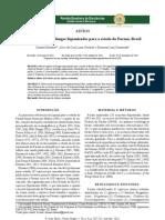 Eliasaro et al 2012 Novos registros de fungos liquenizados para o estado do Paraná, Brasil