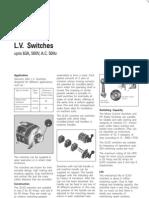 L v Switches - Upto 63A 500V AC 50Hz
