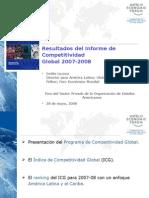 Resumen de Resultados del Informe de Competitividad Global 2007-2008