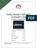 Flipkart SCM Report Group 12