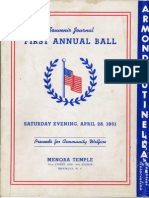 1951 Armond Cutinella Memorial Ball Journal