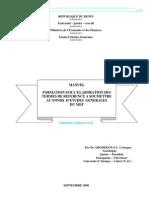 Manuel de Formation Sur Les Canevas Types de TDR