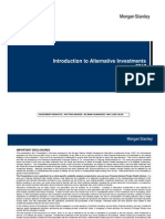 Introduction to Alternative Investments