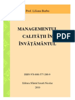 Managementul Calitatii Barbu Liliana                               Management