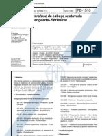 NBR 11403 PB 1510 - Parafuso de Cabeca Sextavada Flangeada - Serie Leve
