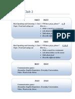 Scheme of Work Speaking Club 2