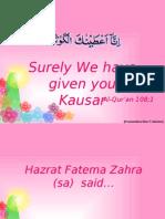 Hazrat Fatema Zahra (Sa)