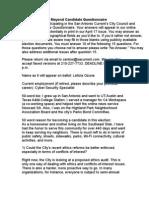 Leticia Ozuna Council Questionnaire