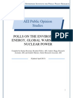 Polls on the Environment, Energy, Global Warming, and Nuclear Power - AEI Public Opinion Study, April 2013