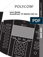 Soundpoint Ip500 501 User Guide Sip2.0