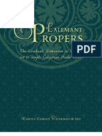 Lalemant Propers, 391 Pages, Simple English Psalm Tones