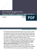 Warren Buffet's Letter to Shareholders_2011
