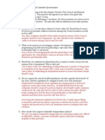 Steve Shamblen Council Questionnaire