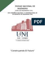 Estructura Del Libro de Ponencias Coneic Uni 2009