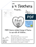 Free Songs and Poems eBook for Classroom Teachers