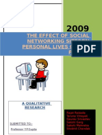 The Effect of Social Networking Sites
