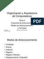 Arquitectura de Computadoras y Modos de Direccionamiento