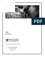 Sexual Assault Case Investigative Analysis