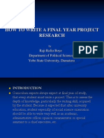 How to Write a Final Year Project Research Ppt