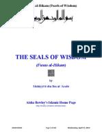Fusus Al-Hikam _Pearls of Wisdom_ by Ibn-Al-Arabi