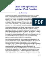 Babe Ruth Batting Statistics and Einstein's Work Function