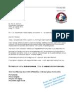 Letter to Rex Tillerson 13-04-18 KXL Testimony
