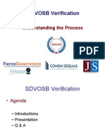 Government Contracting - Veteran Owned Certification SDVO / CVE