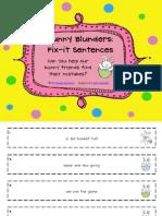 Free Bunny Blunders Fix It Sentences